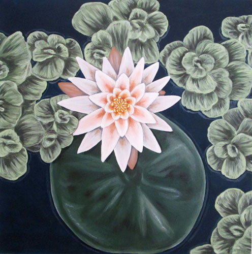 Waterlily 1 Oil Painting Tamara Jaeger