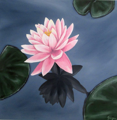 Waterlily 2 Oil Painting Tamara Jaeger