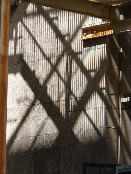 Vibrato: Industrial Diamond fire escape shadow Tamara Jaeger